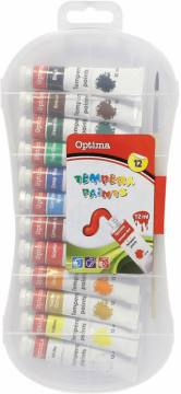 Tempera barvice Optima 12X12ML 3016