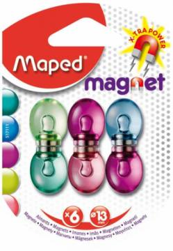 MAGNETI MAPED 13MM FANCY 6/1-BLISTER 4282