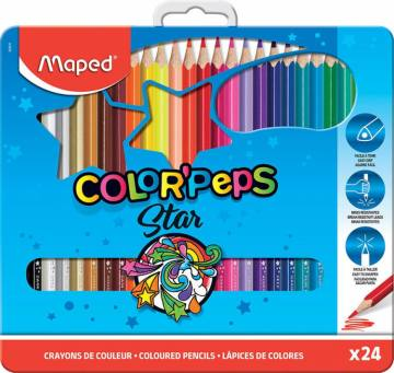 BARV. MAPED COLOR'PEPS 3ROBE 24/1 KOVINA 4554