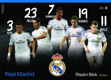 Risalni blok Real Madrid A3 4795